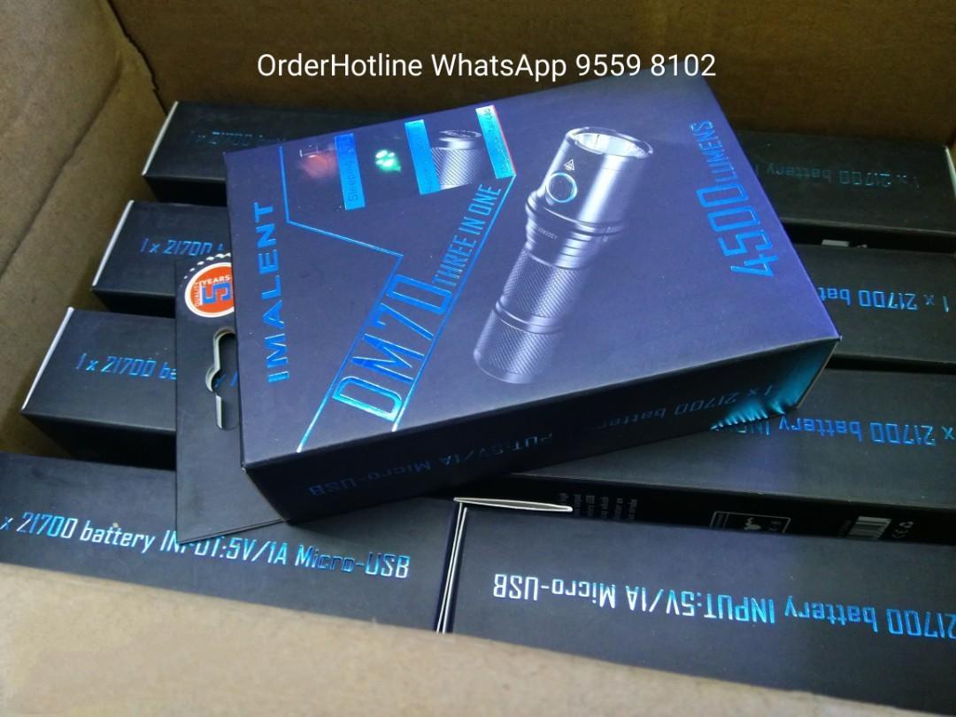 IMALENT DM70 Super Bright LED Flash Light (amazing 4500 Lumens !) USB rechargeable