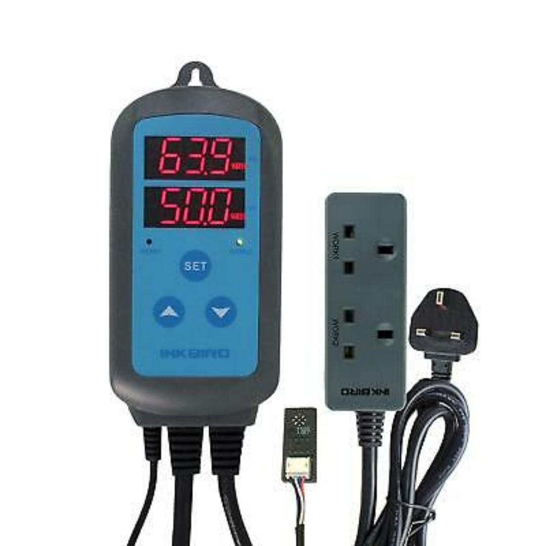 Inkbird IHC-200UK Dual Relays Plug Digital Humidity Controller Humidistat /& Pins
