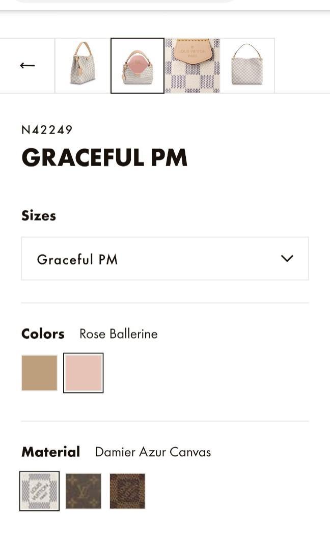 Authentic Louis Vuitton Graceful Azur PM