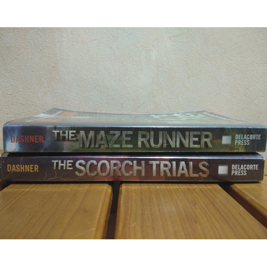 Maze Runner Books by James Dashner (The Maze Runner and The Scorch Trials only)