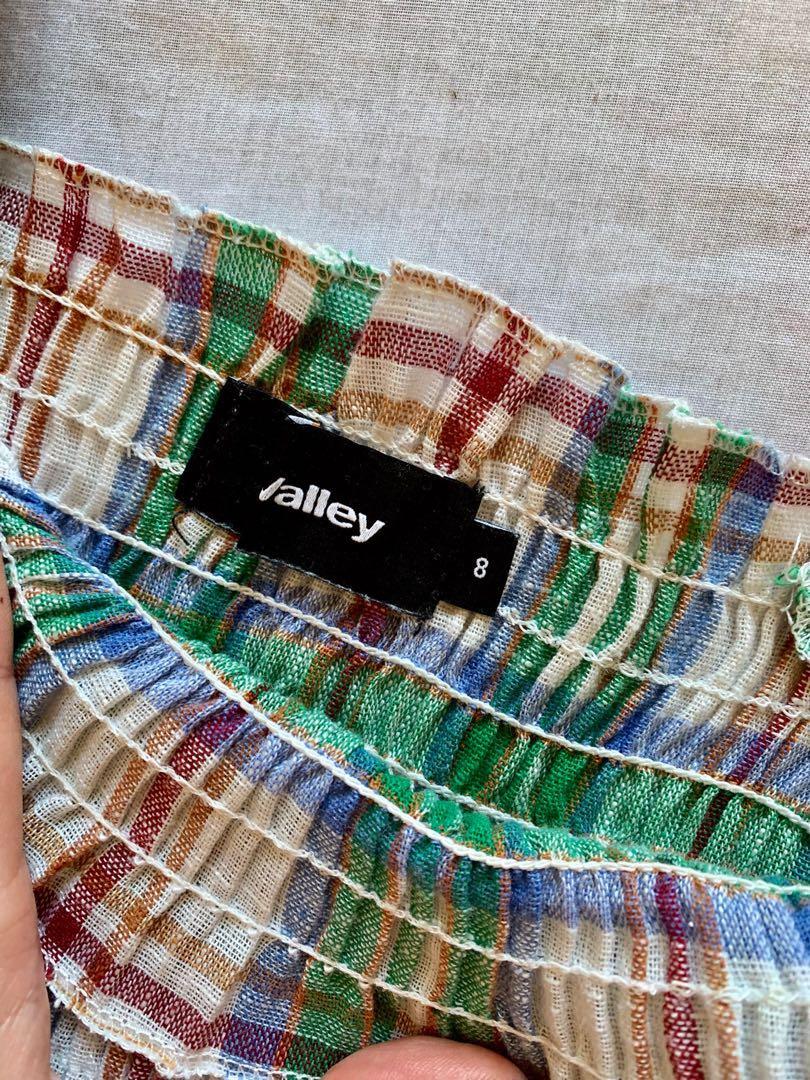 Miss Valley (Valley Girl) Green Tartan Top - AU Size 8