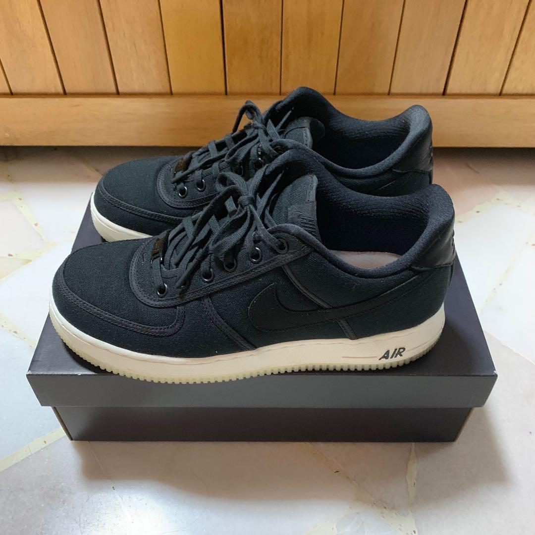 Nike Air Force 1 Canvas Black, Men's