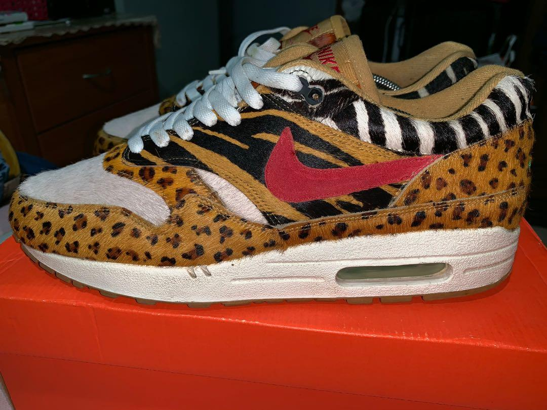 Nike atmos supreme animal airmax 1 OG, Men's Fashion