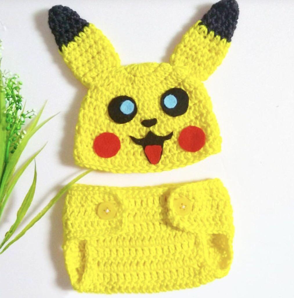 Pokemon, Crochet Set Pikachu, Squirtle, Bulbasaur, Charmander ... | 1025x1013