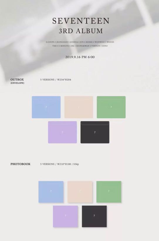 PRE-ORDER ✨SEVENTEEN 3RD MINI ALBUM✨ FACTORY SEALED ORIGINALLY + WITH /WITHOUT POSTER (PLEDIS)