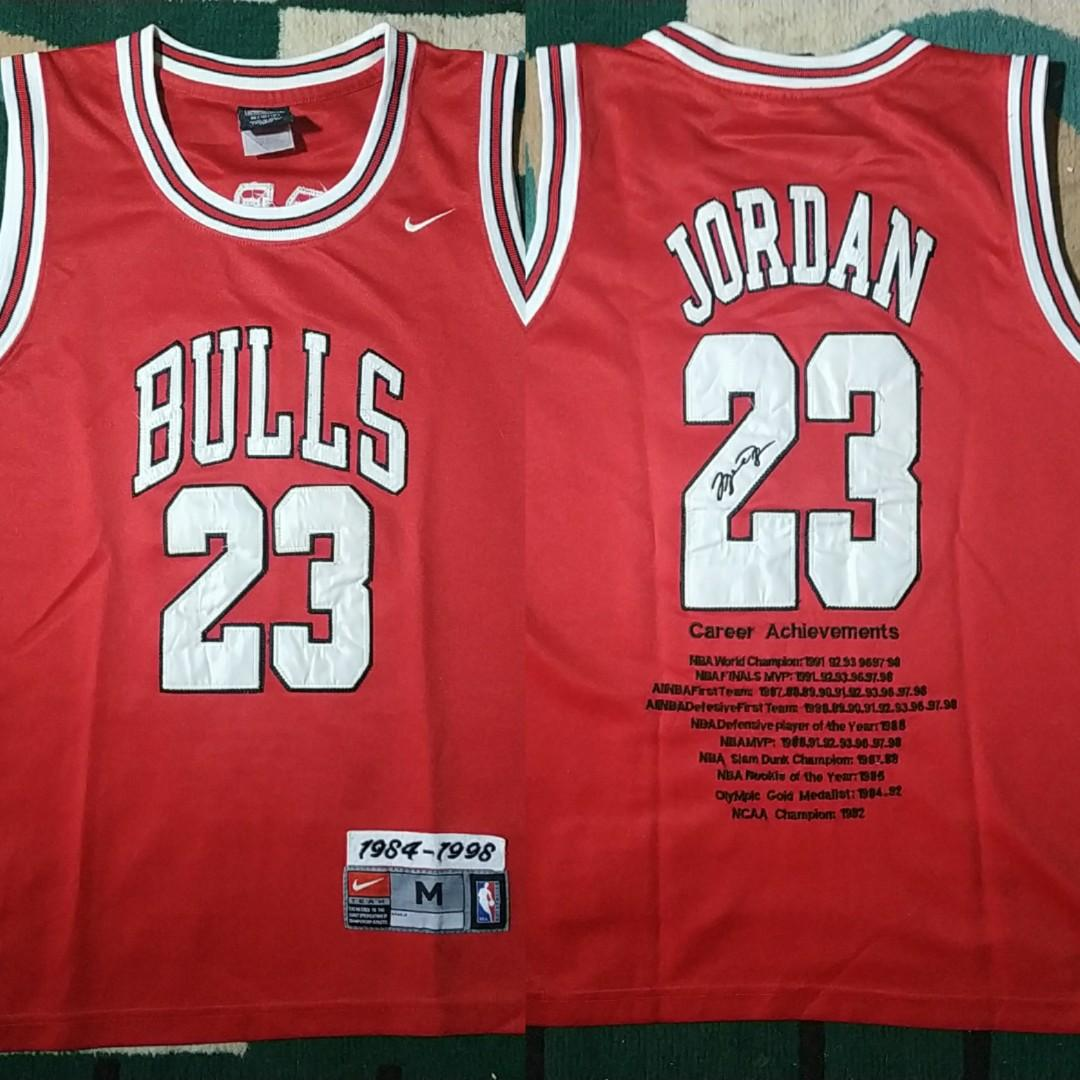 Michael Jordan jersey Basketball NBA NIKE Adidas shirt on