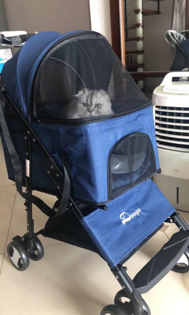 Royal Blue Pet Stroller Carrier