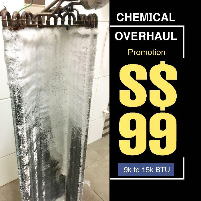 S$99 Chemical Overhaul with water jet wash call 98231778
