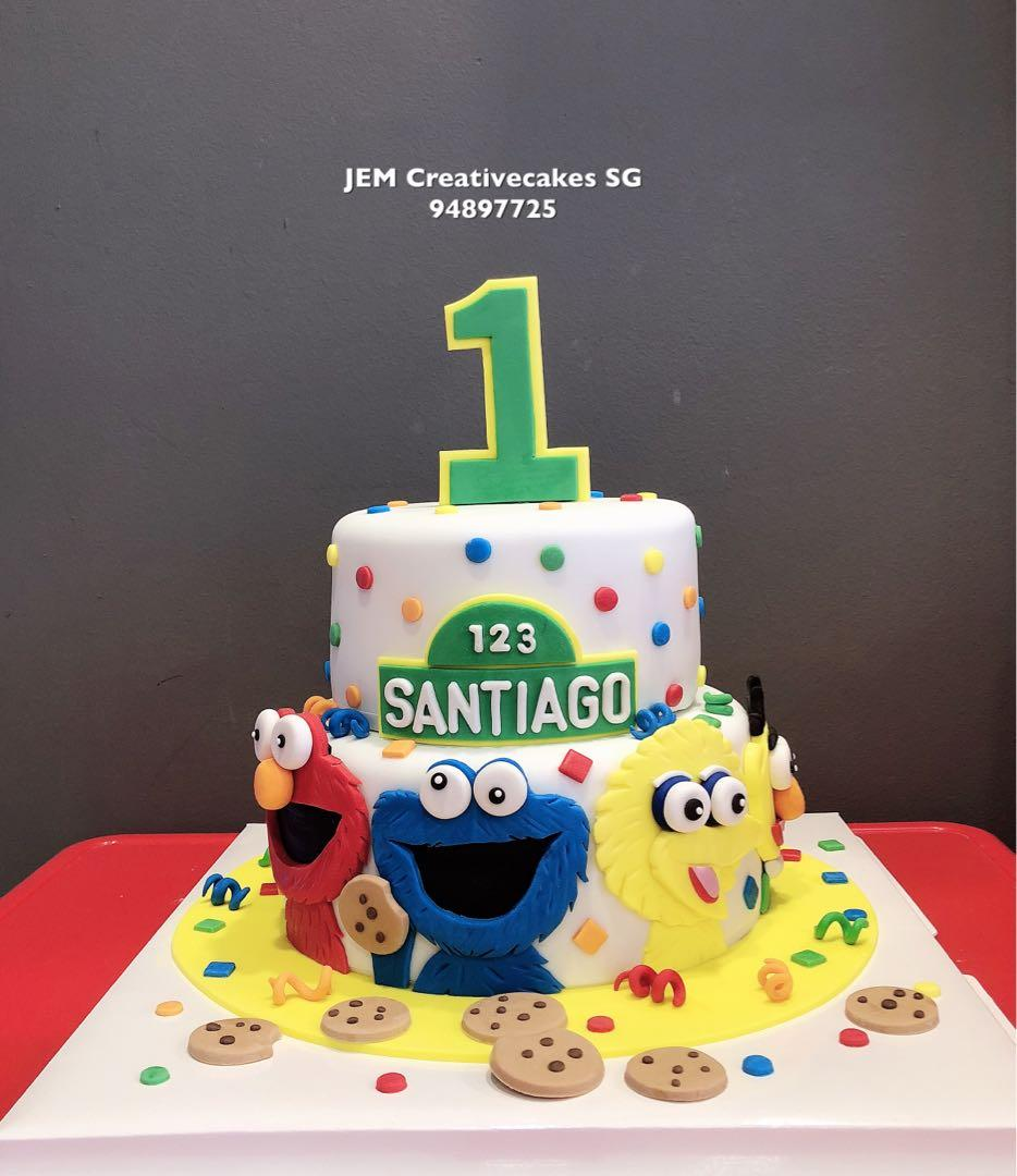Groovy Sesame Street Birthday Cake Food Drinks Baked Goods On Carousell Personalised Birthday Cards Paralily Jamesorg
