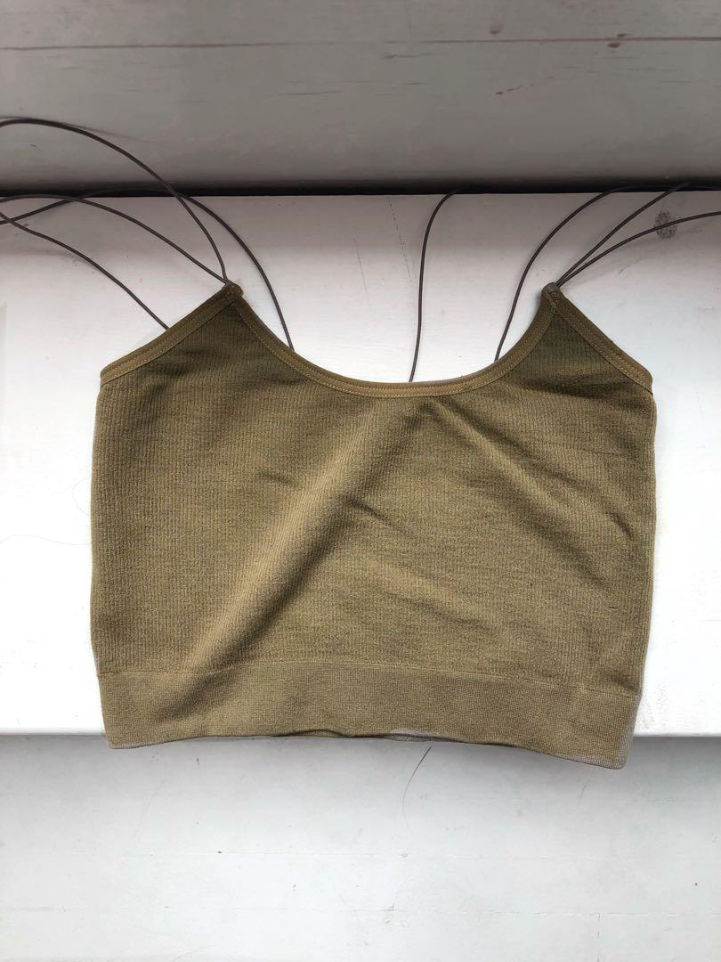 Urban outfitters army green seamless bra tank/cami