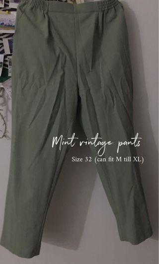 Vintage pants in mint colour