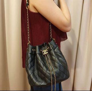 Chanel gift drawstring quilt bag