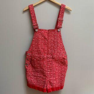 Urban Outfitters BDG Paisley Denim Overall Shorts
