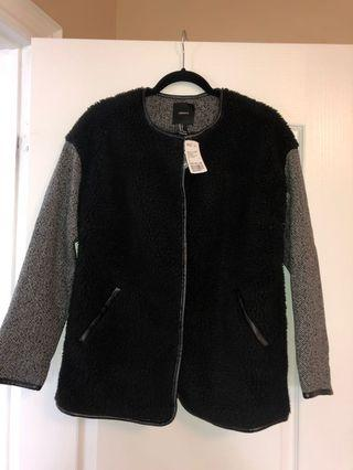 NEW! Faux jacket size small