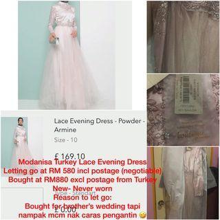 Modanisa Turkey Lace Evening Dress