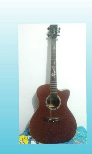 Gitar akustik elektrik lakewood sunghajun
