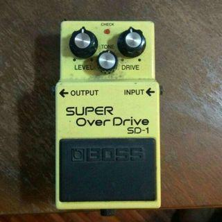 Boss SD-1 Super Overdrive Guitar Pedal SD1 Stompbox effects