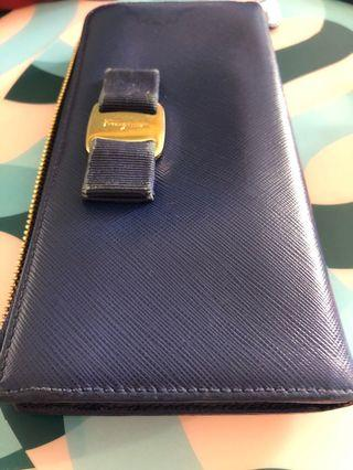 Salvatore Ferragamo blue wallet