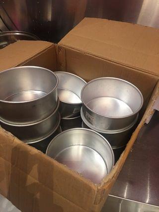 Cake tins round aluminium 6 inches