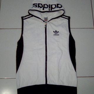 Rompi vest zip hoodie sweater jaket adidas original