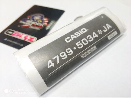 Casio Manual Book ONLY - 4799 ▪️5034