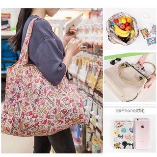 Fashion reusable shopping tote handbag