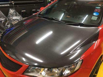 Car $88 bonnet wrapping service