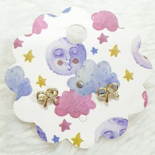 387 - Super Tiny Ribbon Earrings