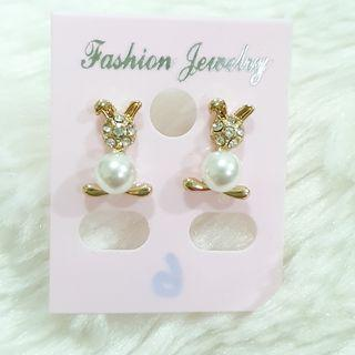 388 - Rabbit Pearl Earrings