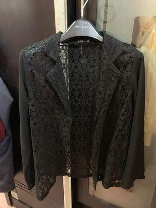 Black lace outer/ cardigan