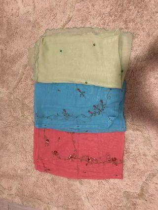 Bawal Cotton Sulam 3D
