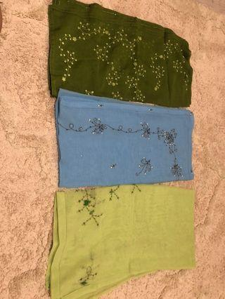 Bawal Cotton Sulam 3D and 2D