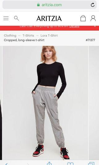 """ARITZIA """"DOPE DYED"""" TRACK PANTS"""