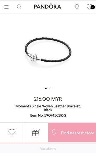 Authentic Pandora Leather Bracelet