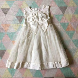 PRIMARK White Bow Tulle Dress