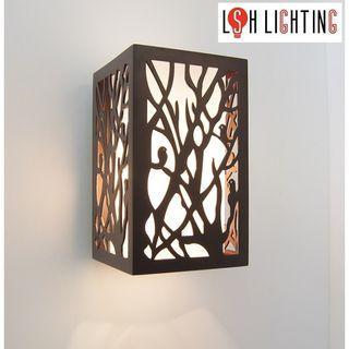 LSH Lighting Classic Decorative Wooden Wall Light 19331/1
