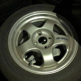 Work Meister S1R 2piece Wheels 4x100 15x6.5 +35 (set of 4)