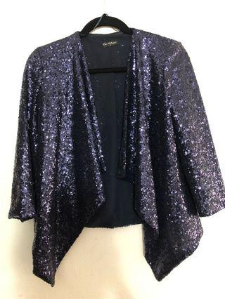 Miss Selfridge Waterfall Sequin Cardigan