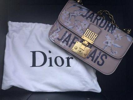 Dior Dioraddict Flap Bag In Pink Painted Calfskin Jardin Japonais Collection Handbag