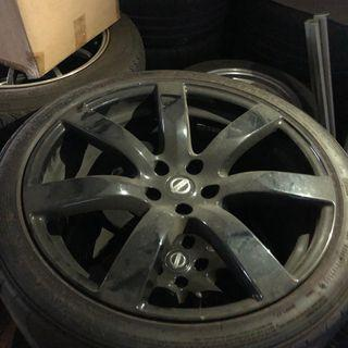 GTR35 stock wheels. 2 sets available.
