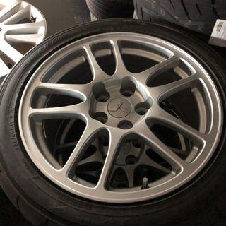 Rare Enkei Evo 9 CT9A Stock wheels! Factory original! with tyres.