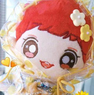 WTS Doll clothes 15cm/20cm - Polkadot yellow raincoat