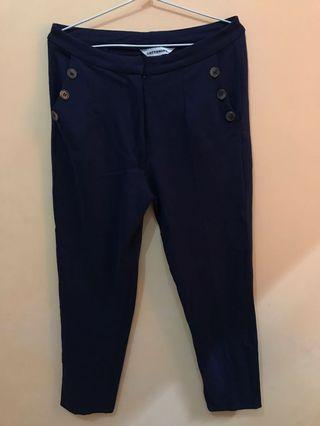 Navy Pants Cotton Ink