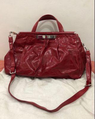 preloved - miumiu ori leather 28x40cm comes with dustbag and longstrap.