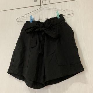 蝴蝶結綁帶短褲 鬆緊腰