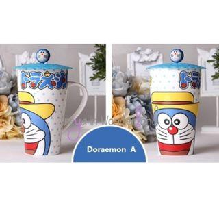 Doraemon Ceramic Mug with Lid 4 Cute Designs! Creative Cups Ideal for Gifts