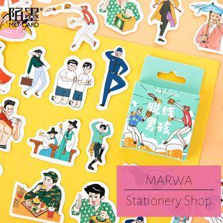 45pcs Cool Korean Oppa Sticker Pack (Mo Card- MC0078)