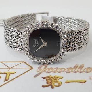 CHOPARD 18K WHITE GOLD DIAMOND WATCH