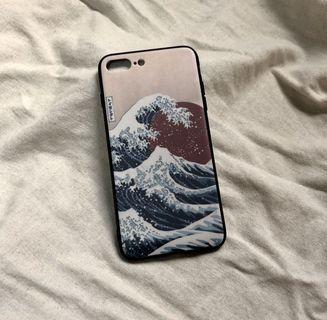 iphone 7/8plus 日本浮世繪全包手機殼🌊