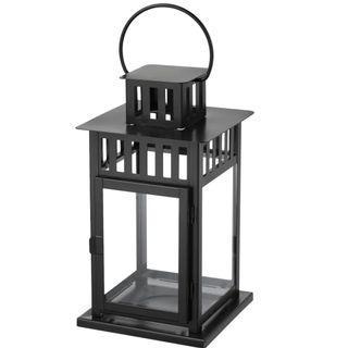 Medium black lantern in/outdoor